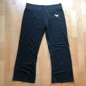 Black Victoria's Secret Pink Cozy Pants Size L